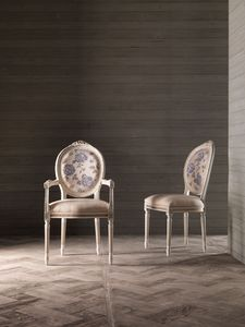 CARLA' chaise 8662S, Chaise classique élégant, avec siège et dossier rembourrés