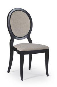 Cindy, Salle à manger chaise sans accoudoirs, style classique
