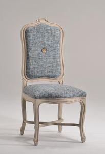ELISABETH chair 8492S, Chaise avec dossier haut rembourré, style classique
