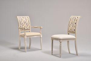 GABRY chaise 8257S, Chaise classique, rembourrés, hêtre, pour le café historique