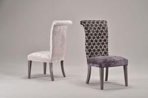 GRACE chair 8279S, Chaise entièrement tapissée, dossier haut, style classique