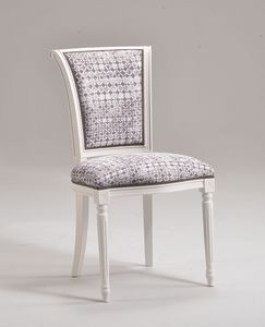 KELLY chair 8021S, Chaise de style classique sans accoudoirs, personnalisable