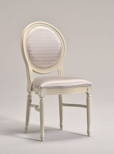LUIGI XVI stacking chair 8024S, Chaise de salle à manger empilables, traditionnelle, pour les restaurants