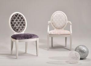 LUNA chair 8269S, Chaise rembourrée, revêtements et couleurs personnalisables