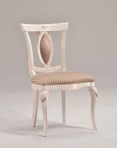 MICHY chair 8169S, Chaise de luxe en bois massif sculpté