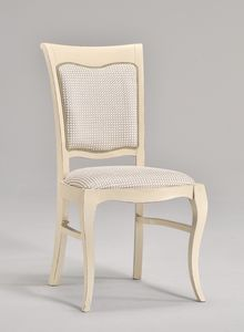 MILUNA chair 8314S, Chaise rembourrée pour salons de style classique