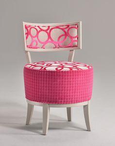 ROUND chaise 8641S, Chaise élégante, avec siège rond rembourré, pour le restaurant