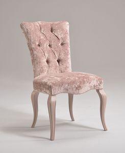 ROYAL chair 8494S, Chaise classique en bois de hêtre, rembourrée, personnalisable