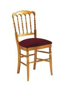S10, Chaise en bois classique, dossier avec lamelles verticales