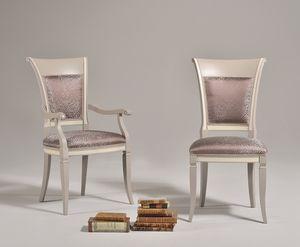 SIRIA chair 8525S, Chaise de style ancien avec dossier en bois
