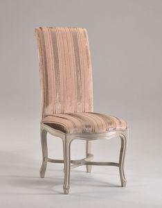 SISSI chair 8491S, Chaise haute-dossier, rembourrés avec structure en bois