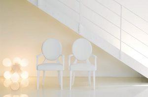 Sofia, Ash chaise en bois avec accoudoirs, laqué dans divers coloris