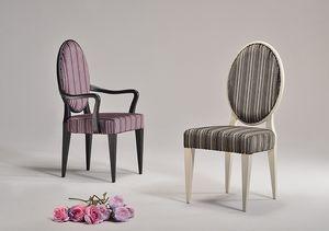 YVONNE fauteuil 8615A, Chaise de style néoclassique en différentes couleurs, pour salle d'attente