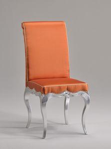 ZEN chaise 8677S, Ancienne salle chaise de style, avec le siège et dossier rembourrés