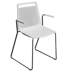 Akami SS, Chaise en technopolymère avec piètement luge