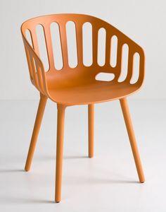Basket Chair BP, Chaise polymère design pour les bars et restaurants