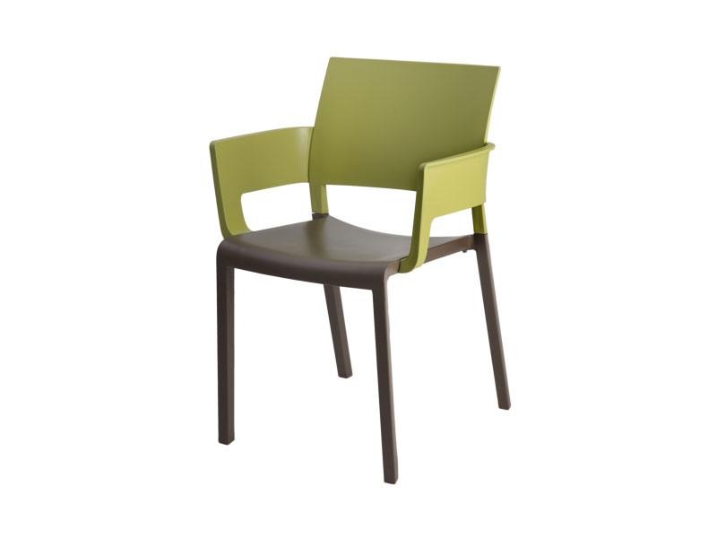 Fiona - P, Chaise empilable avec accoudoirs, facile à nettoyer