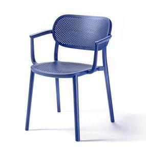 Nuta B, Chaise en plastique avec accoudoirs