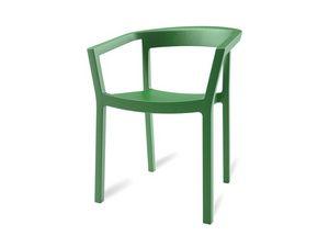 Paola, Chaise empilable robuste pour les jardins et les piscines