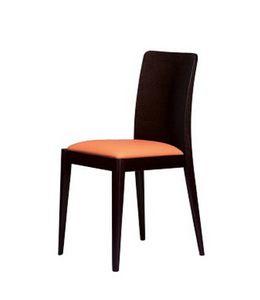 336, Chaise rembourrée linéaire pour l'hôtel et maison moderne