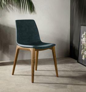 ARALIA, Chaise aux lignes douces et élégantes