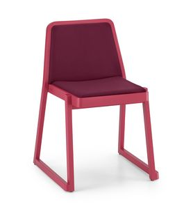 ART. 0041-IMB ROXANNE, Chaise rembourrée confortable, chaise empilable