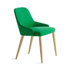 Axel R 4L/FU, Chaise en bois linéaire, style contemporain classique