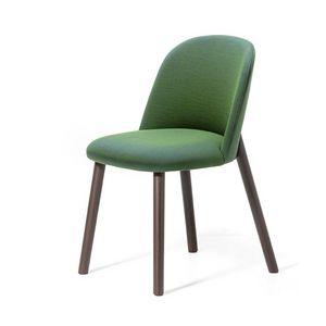 Doc, Chaise en bois de frêne, avec rembourrage ignifuge, doux et confortable