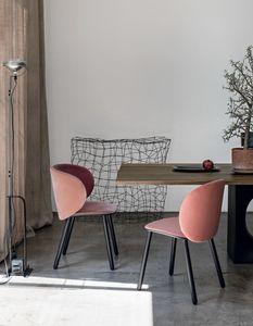 Dua, Chaise design rembourrée en tissu