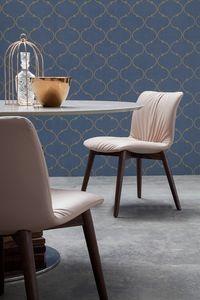 FELIX, Cuir ou éco-cuir chaise rembourrée
