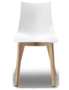 Natural Zebra, Chaise en bois et polycarbonate, différentes couleurs