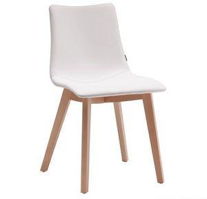 Natural Zebra Pop, Chaise moderne en bois avec assise rembourré