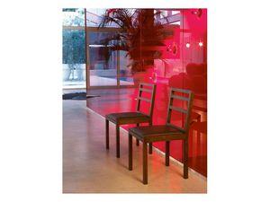 Tesi, Chaise en bois avec dossier à lattes horizontales