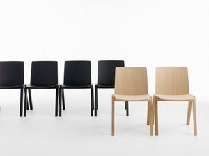 Kira RS/VS, Chaise empilable en hêtre ou en chêne