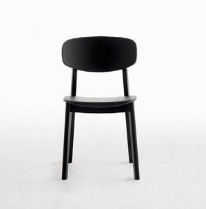 Lene R/VS, Chaise sans accoudoirs en bois massif