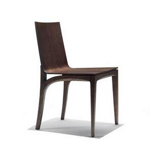 Mak, Chaise en bois avec assise et dossier incurvé