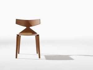 Saya, Chaise design avec structure en bois, lignes dynamiques