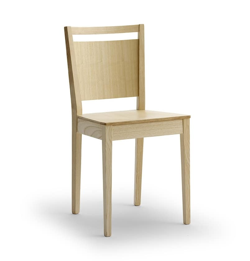 TREVISO, Chaise moderne en bois de frêne