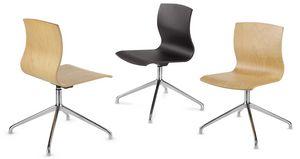 WEBWOOD 368, Chaise avec dossier en bois