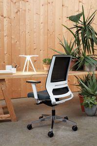 Logica White 01, Chaise de bureau blanche