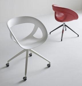 Moema UR, Chaise pivotante de bureau, avec 4 roues
