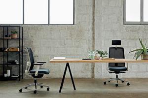 Omnia White 01 PT, Chaise de bureau élégante structure blanche
