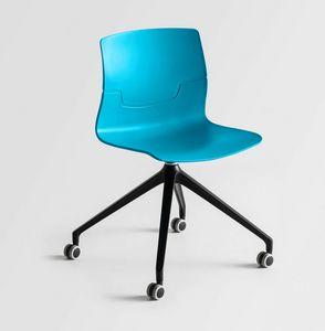 Slot UR, Chaise pivotante sur roulettes, 4 branches, assis dans un polymère