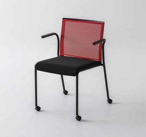 Teckel B R, Chaise de bureau avec roulettes et dossier en filet