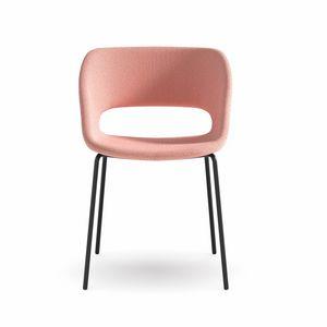 Kabira 4L, Chaise avec cadre en métal et contreplaqué