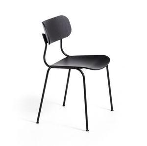 Kiyumi Wood, Chaise en acier peint et frêne