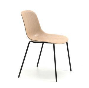 Máni Wood 4L, Chaise avec coque en placage 3D de base
