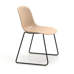 Máni Wood SL, Chaise avec piètement luge
