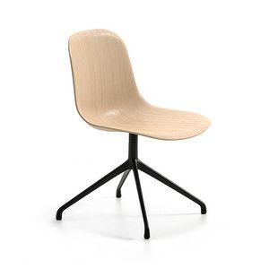 Máni Wood SP, Chaise pivotante avec coque en placage 3D