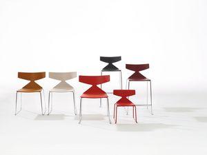 Saya Sled Base, Chaises avec base en métal, de différentes couleurs